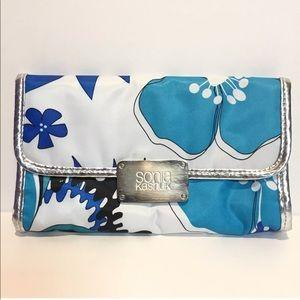 Sonia Kashuk Cosmetic Makeup Travel Bag Blue White